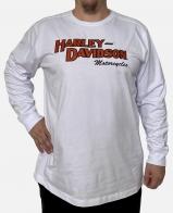 Белый мужской реглан Harley-Davidson