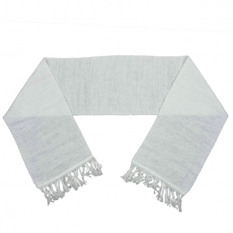 Белый шарф кашне