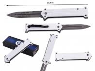Белый складной нож Tac Force Joker Why So Serious (США)