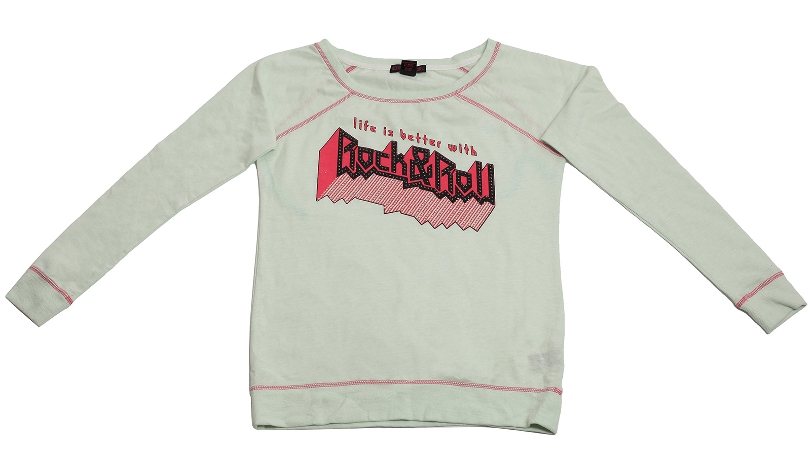 Белый спортивный реглан Rock&Roll CowGirl с логотипом бренда