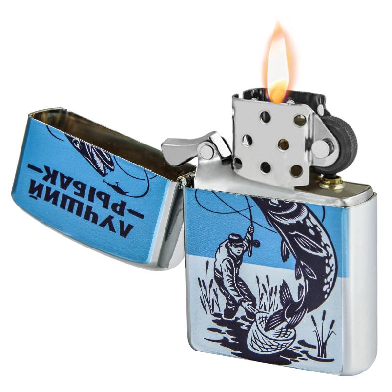 Бензиновая зажигалка Лучший Рыбак