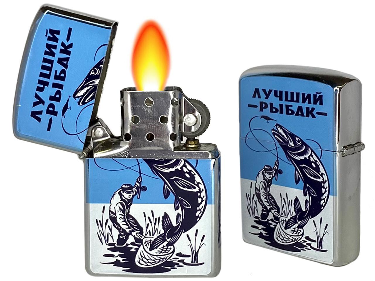 """Купить бензиновую зажигалку """"Лучший Рыбак"""" по выгодной цене"""