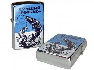 Бензиновая зажигалка Лучший Рыбак - купить в подарок