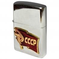 Бензиновая зажигалка с накладкой СССР