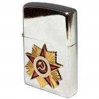 Бензиновая зажигалка с орденом Отечественной войны
