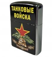Бензиновая зажигалка с принтом Танковые войска