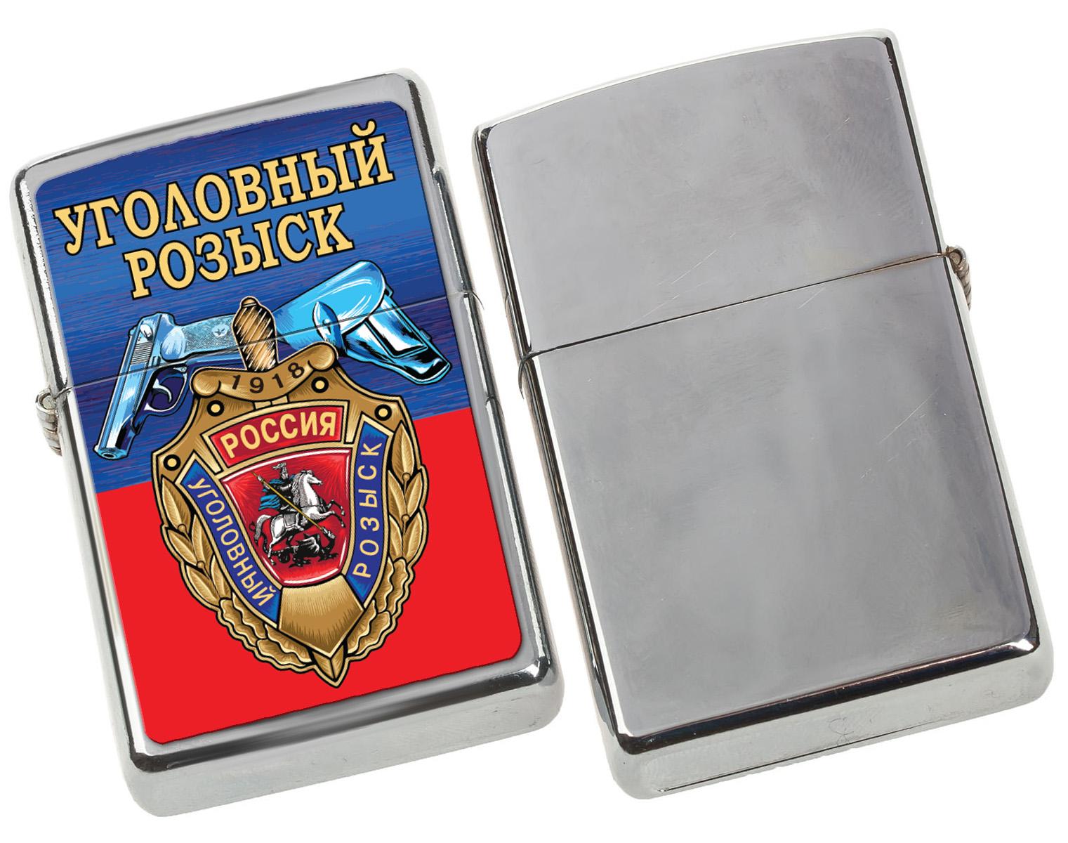 """Бензиновая зажигалка """"Уголовный розыск"""" по лучшей цене"""