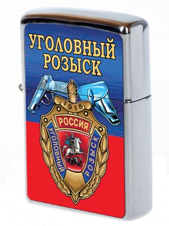 """Бензиновая зажигалка """"Уголовный розыск"""""""