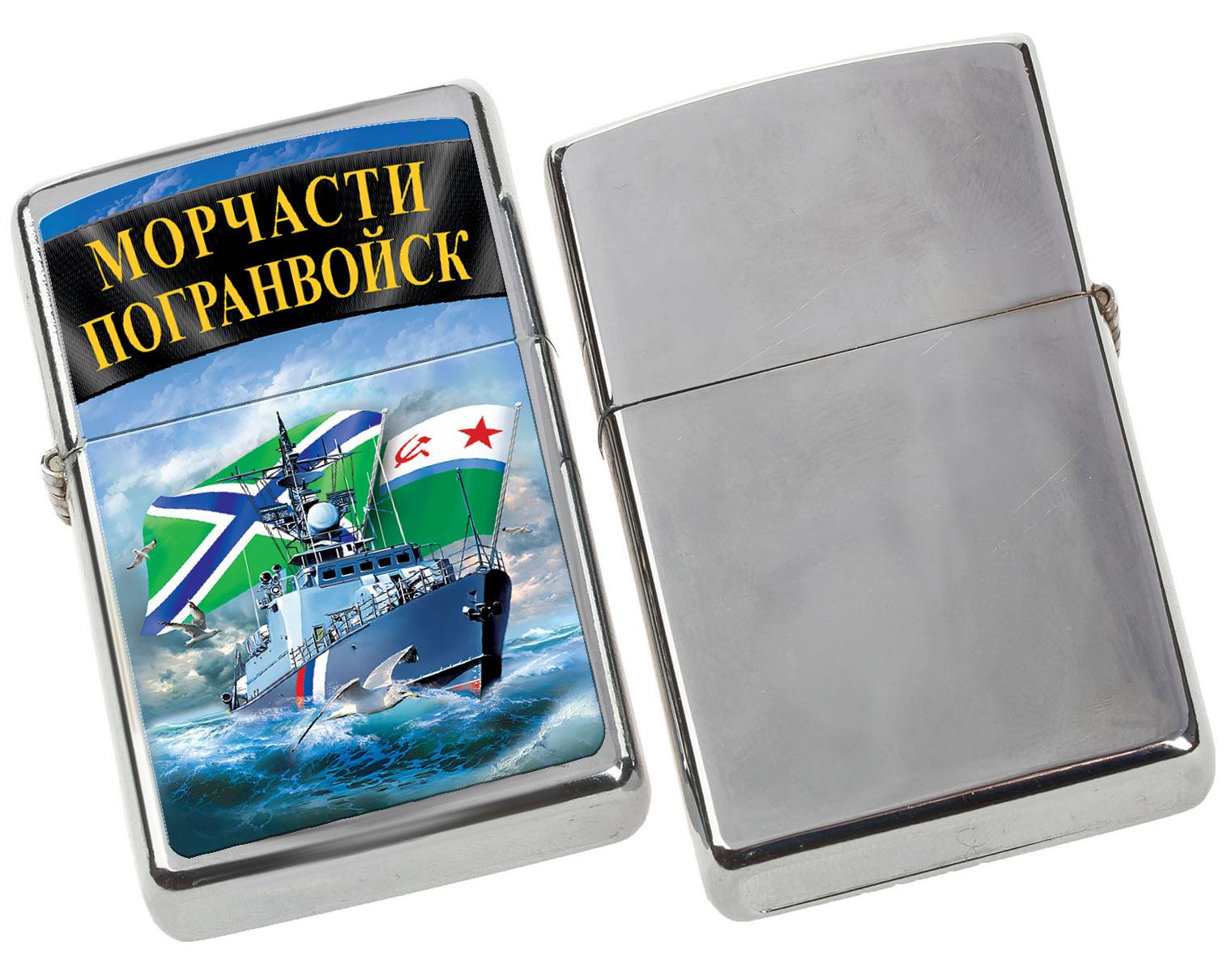 """Бензиновая зажигалка Зиппо """"Морчасти Погранвойск"""" с удобной доставкой"""