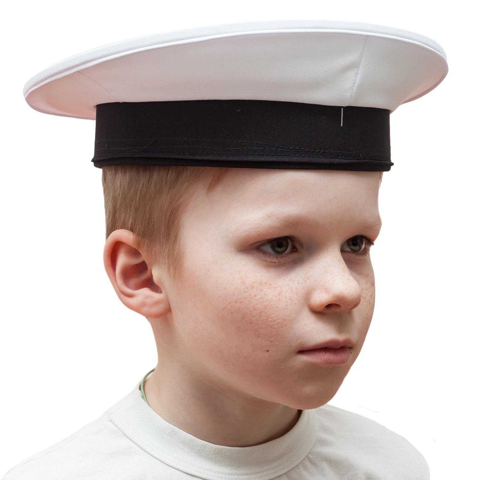 Бескозырка моряка белая