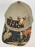 Бежевая бейсболка Beer Season и камуфляжным козырьком