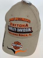 Бежевая бейсболка Harley-Davidson с красочными вышивками