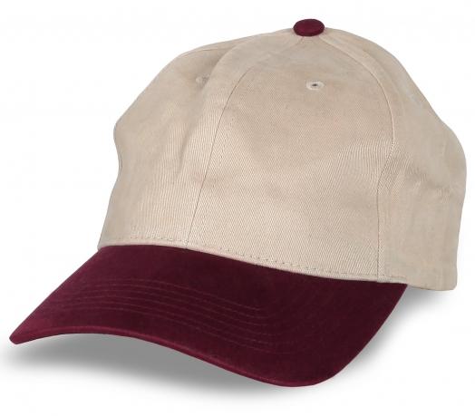 Бежевая кепка под нанесение логотипа