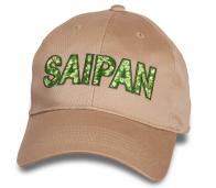 Бежевая фирменная бейсболка Saipan