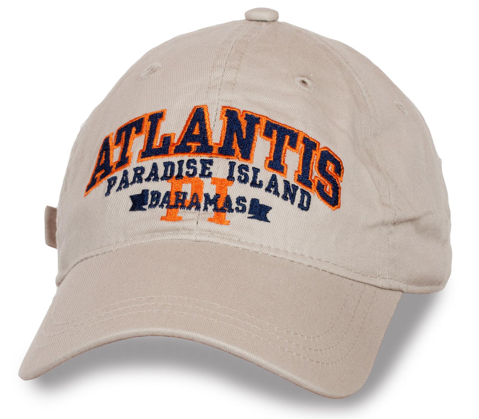 Бежевая кепка ATLANTIS PARADISE ISLAND.