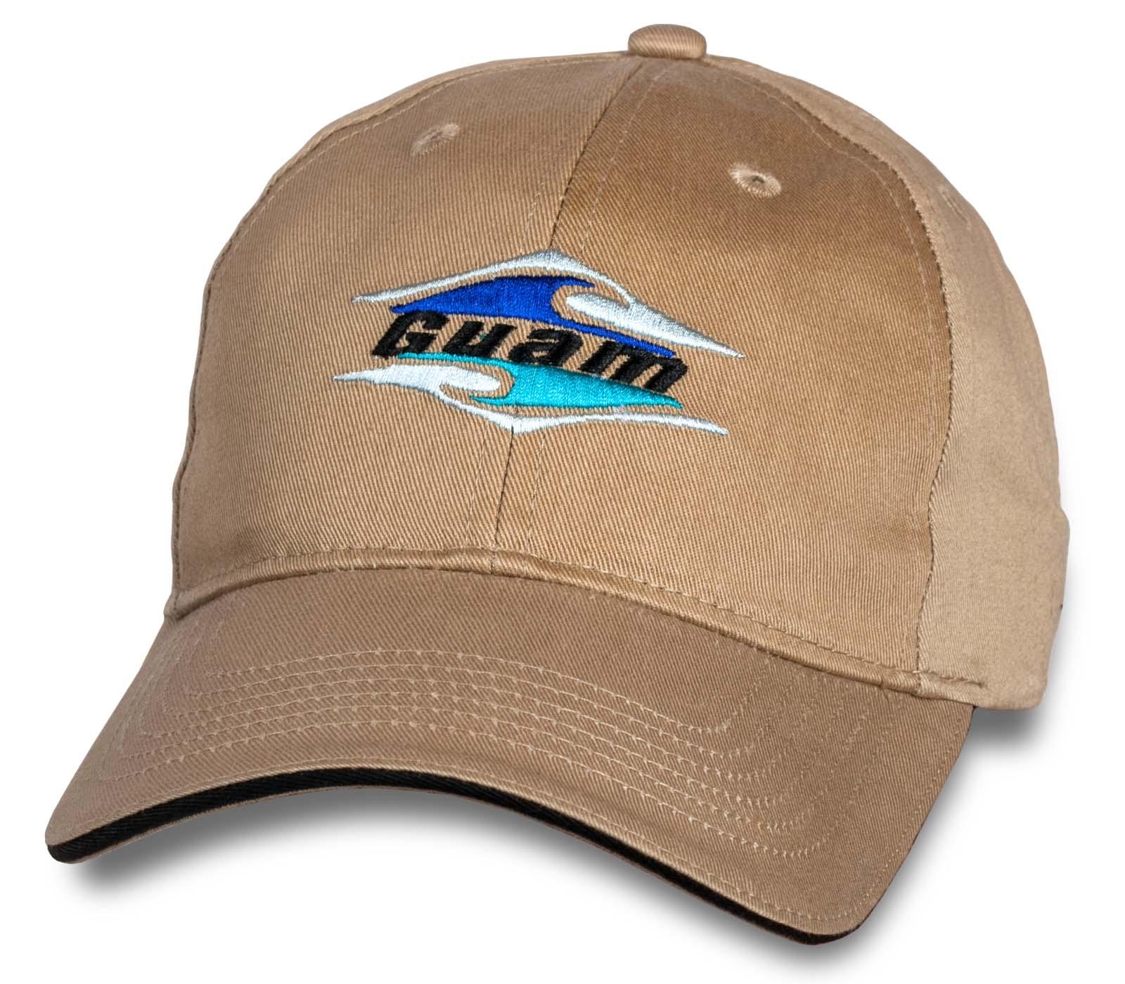 Бежевая кепка-бейсболка Guam.