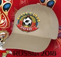Бежевая кепка Россия.
