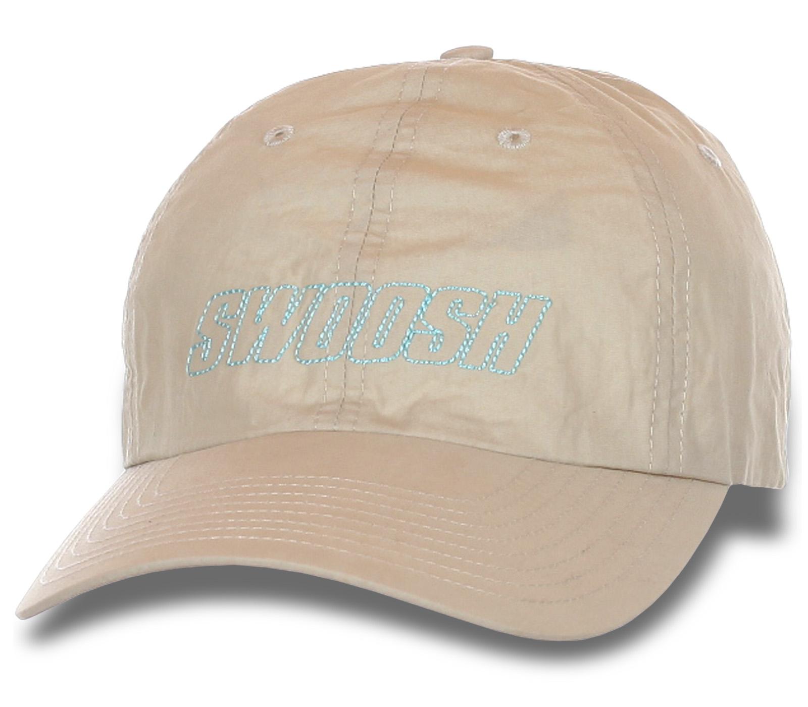 Бежевая кепка SWOOSH