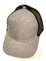 Бежевая летняя бейсболка с черной сеткой
