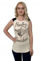 Бежевая женская майка Harley-Davidson