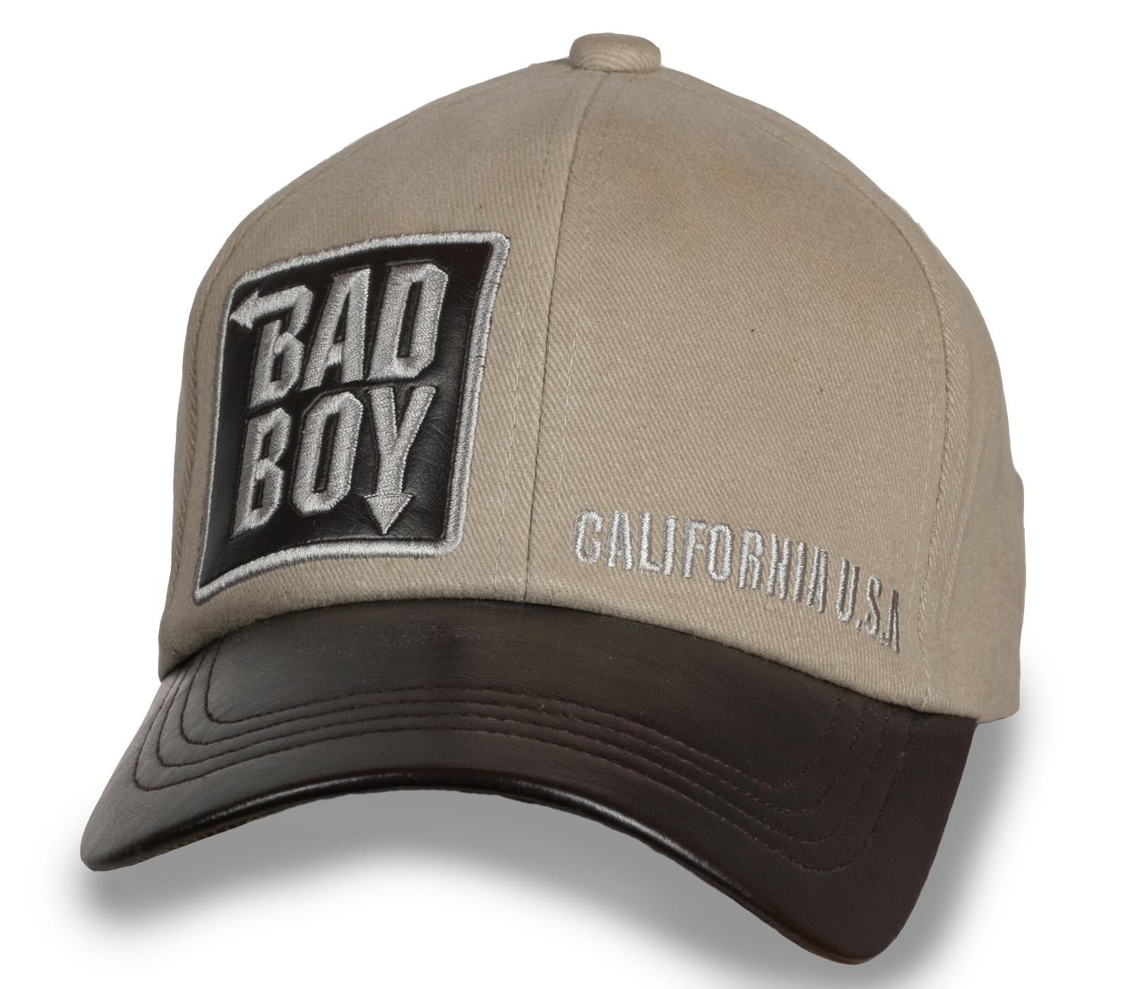 Бежевая мужская бейсболка Bad Boy