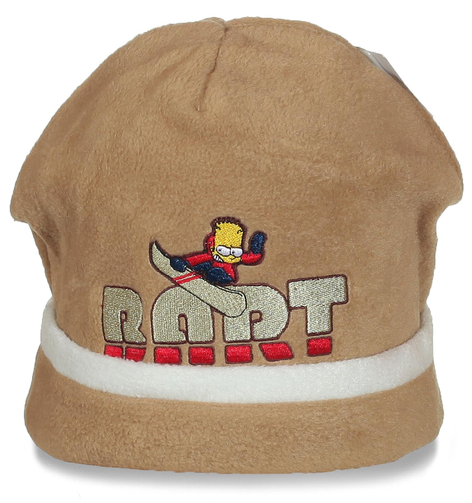 Мягкая и приятная шапочка с вышивкой
