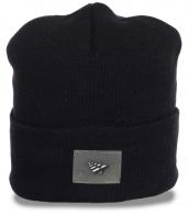Безукоризненная трикотажная мужская шапка с отворотом авторитетным парням