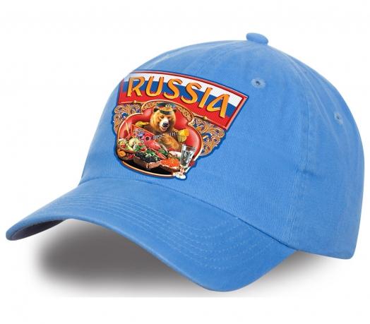 """Безупречная кепка """"Russia медведь с балалайкой"""". Плотный хлопок, эффектный дизайн. Лимитированная серия, успей заказать!"""