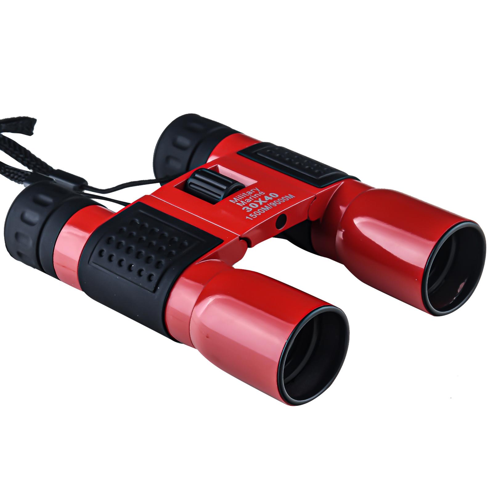 Бинокль для наблюдений Military Marine 30х40 (красный)