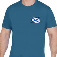 Бирюзовая мужская футболка с шевроном ВМФ