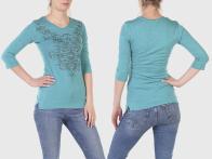 Бирюзовая женская кофта Panhandle Slim с узорами