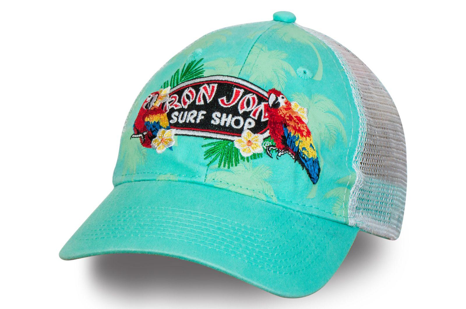 Бирюзовая бейсболка Ron Jon | Купить женскую бейсболку онлайн