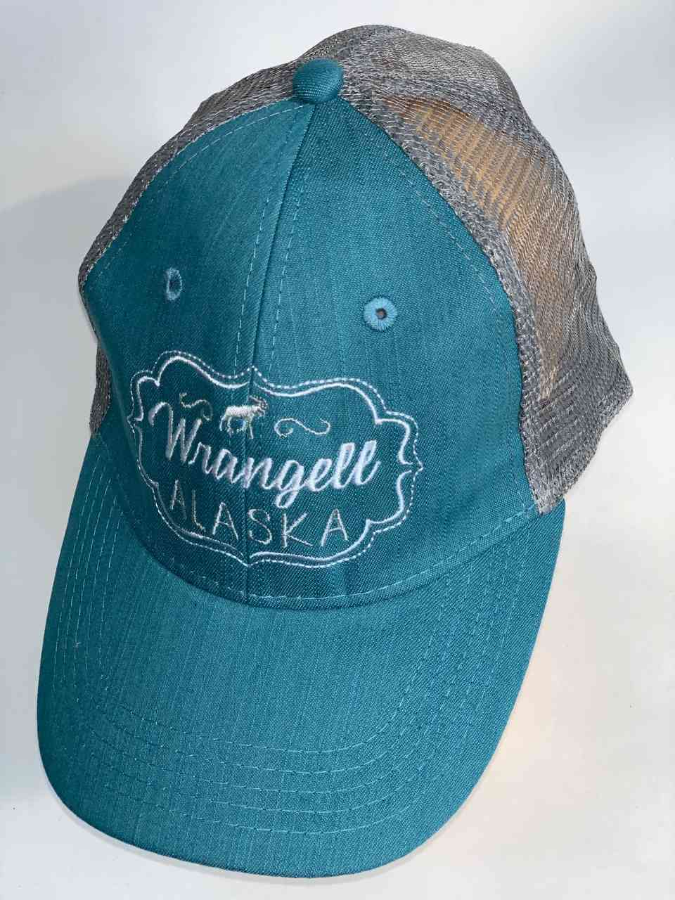 Бирюзовая бейсболка Wrangell Alaska
