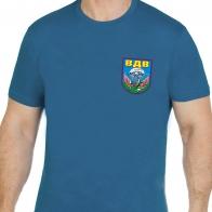 Бирюзовая футболка эмблема ВДВ со скорпионом