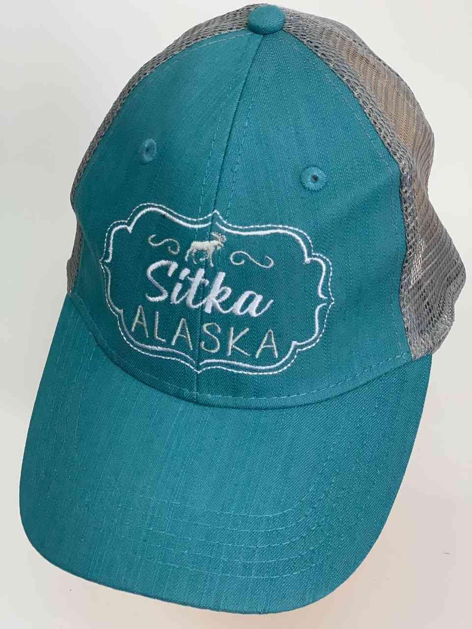 Бирюзовая кепка с сеткой Sitka Alaska