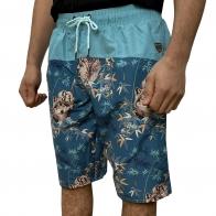 Бирюзовые мужские шорты с фирменным принтом от Septwolves