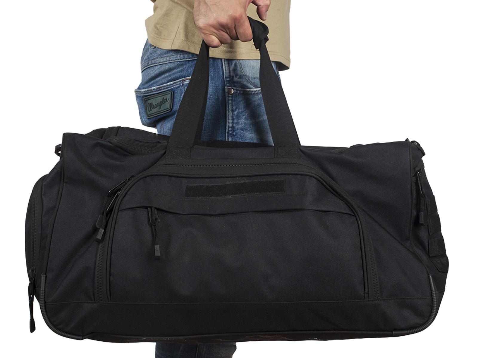 Большая военная сумка 08032B Black с доставкой