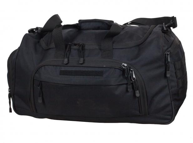 Большая военная сумка 08032B Black