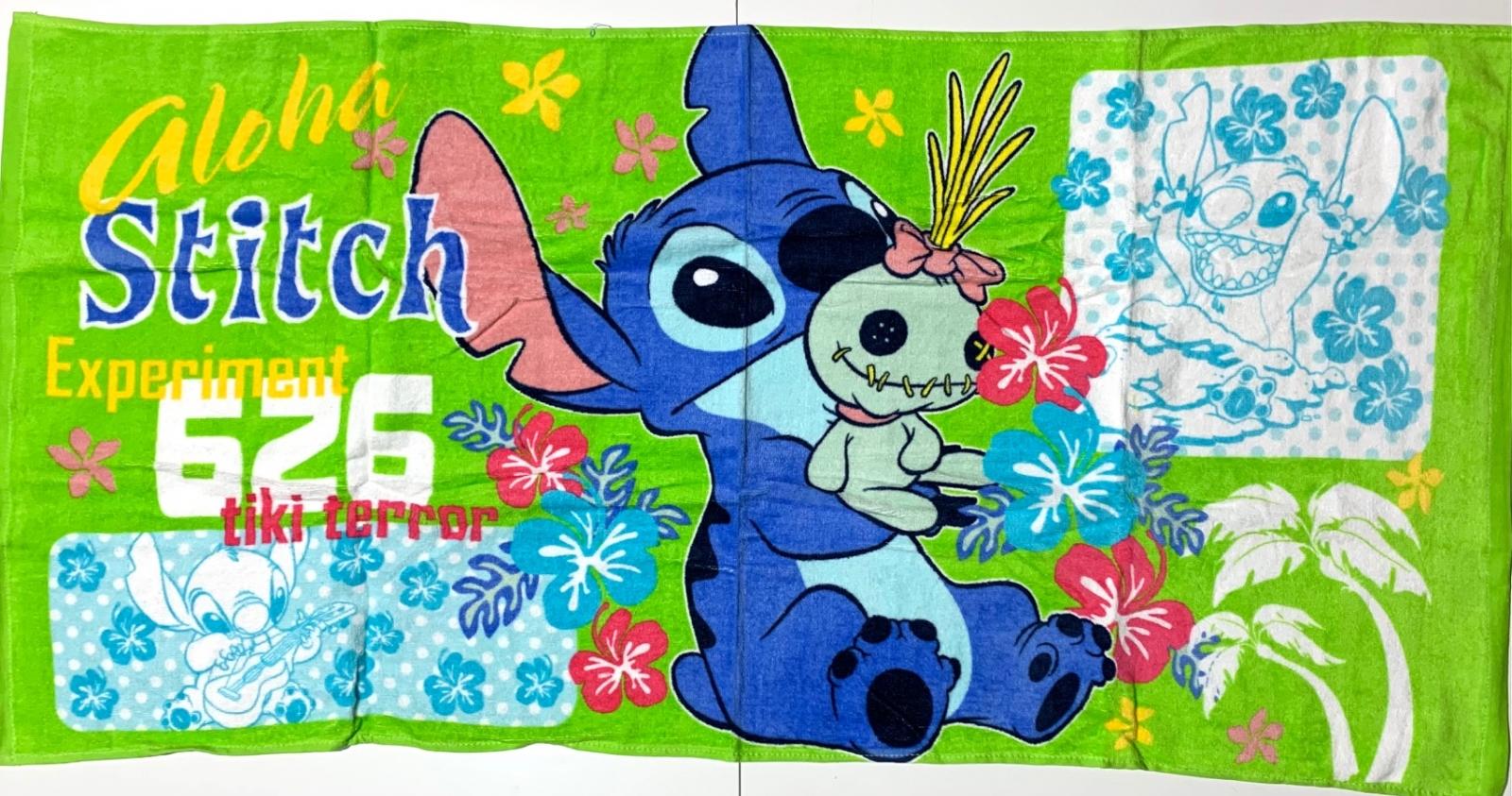 Большое детское полотенце Стич