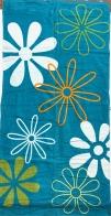 Большое пляжное полотенце с крупным цветочным принтом