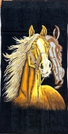 Большое пляжное полотенце с лошадью