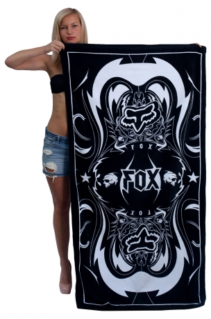 Красивое большое полотенце для тела с мото-лого FOX.