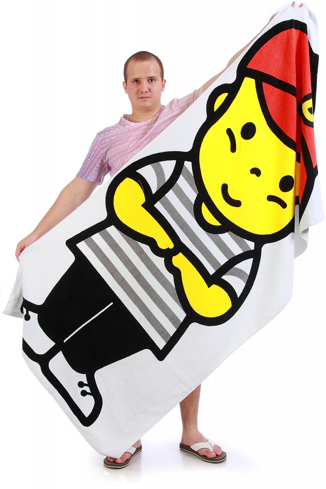 Прикольное пляжное полотенце с ярким принтом
