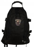 Большой черный рюкзак с шевроном Охотничьих войск