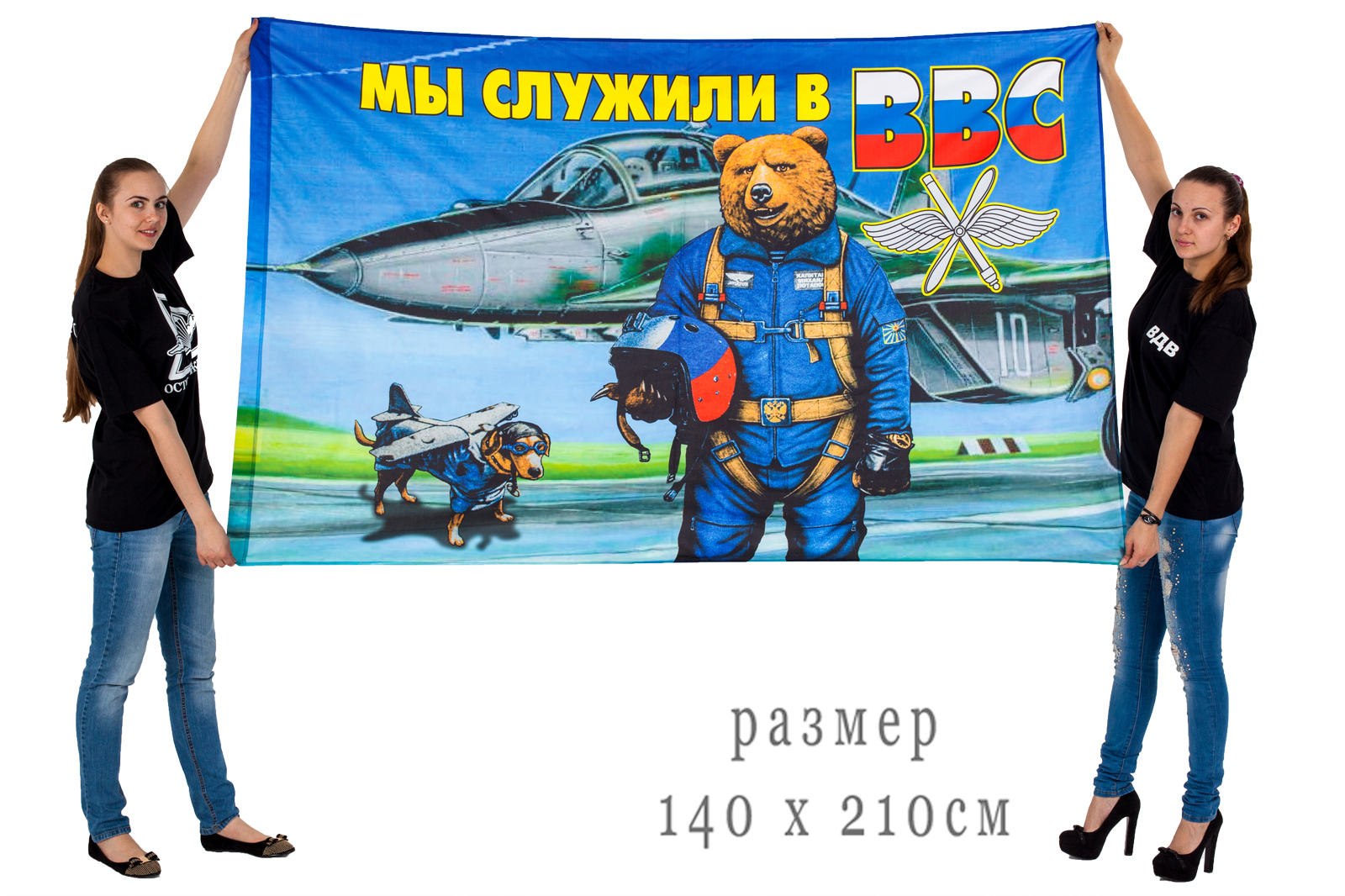 Уличный флаг «Мы служи в ВВС»