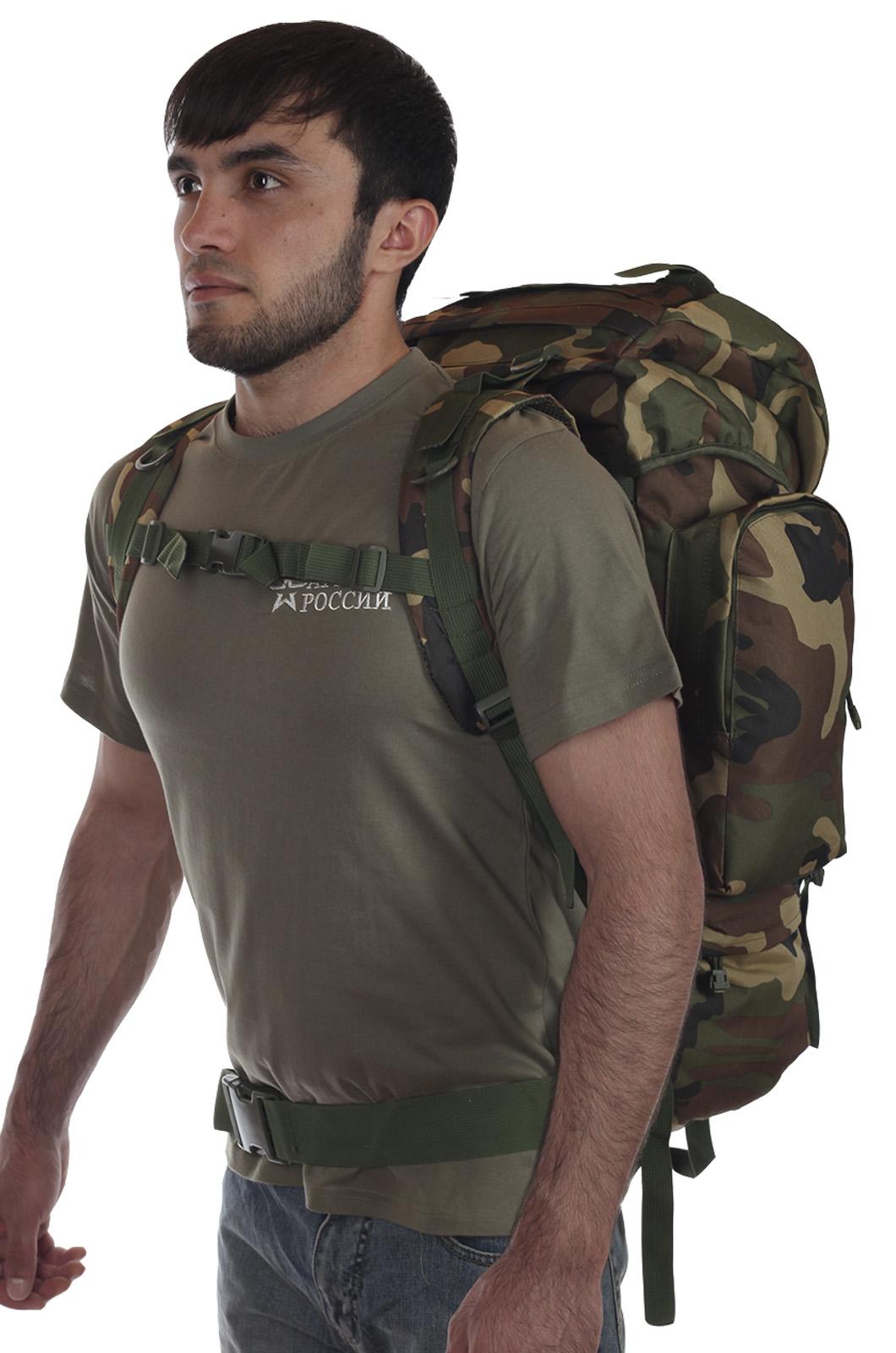 Большой камуфляжный рюкзак с нашивкой Охотничьих войск купить в подарок