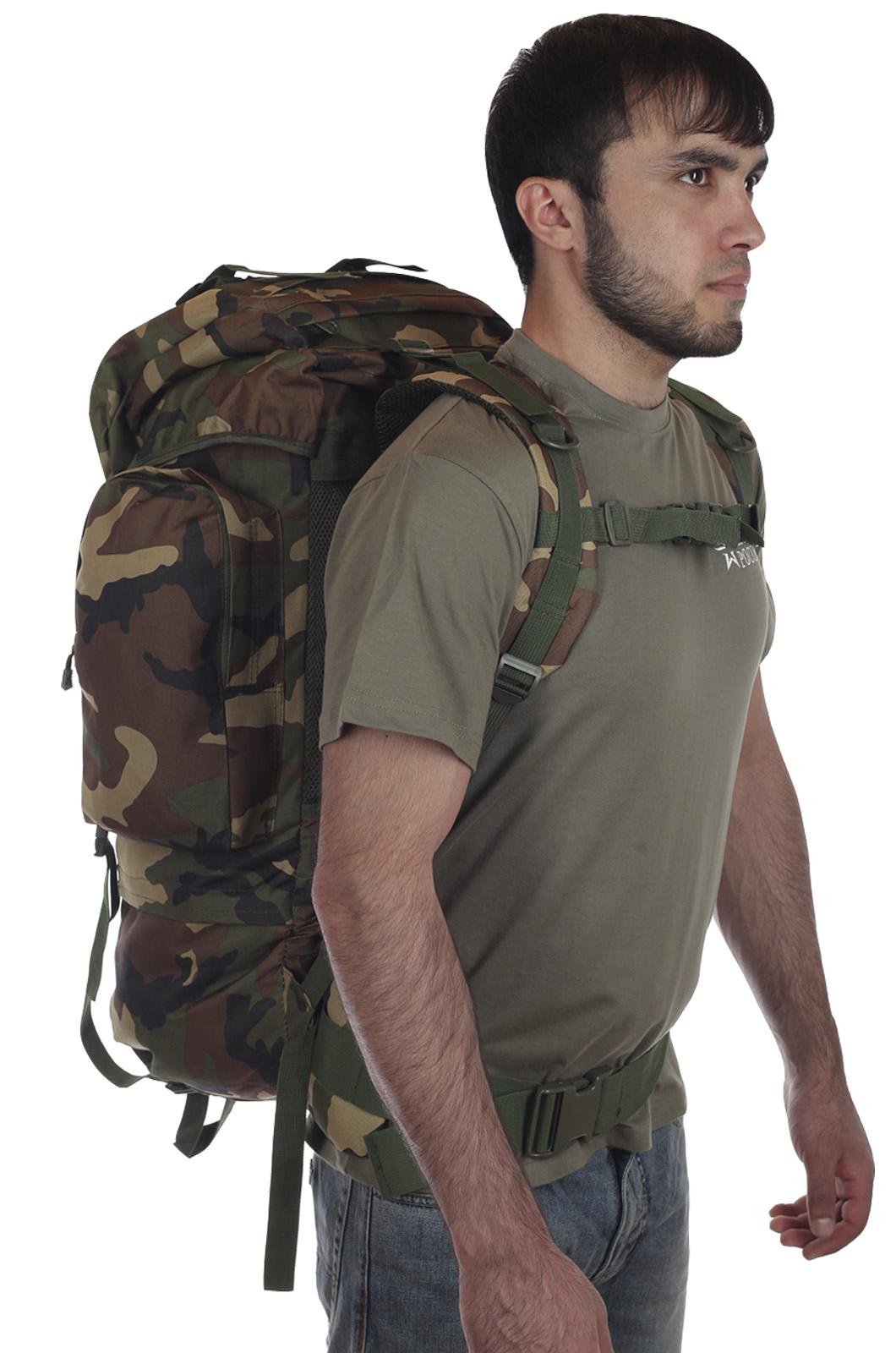 Большой камуфляжный рюкзак с нашивкой Охотничьих войск купить выгодно
