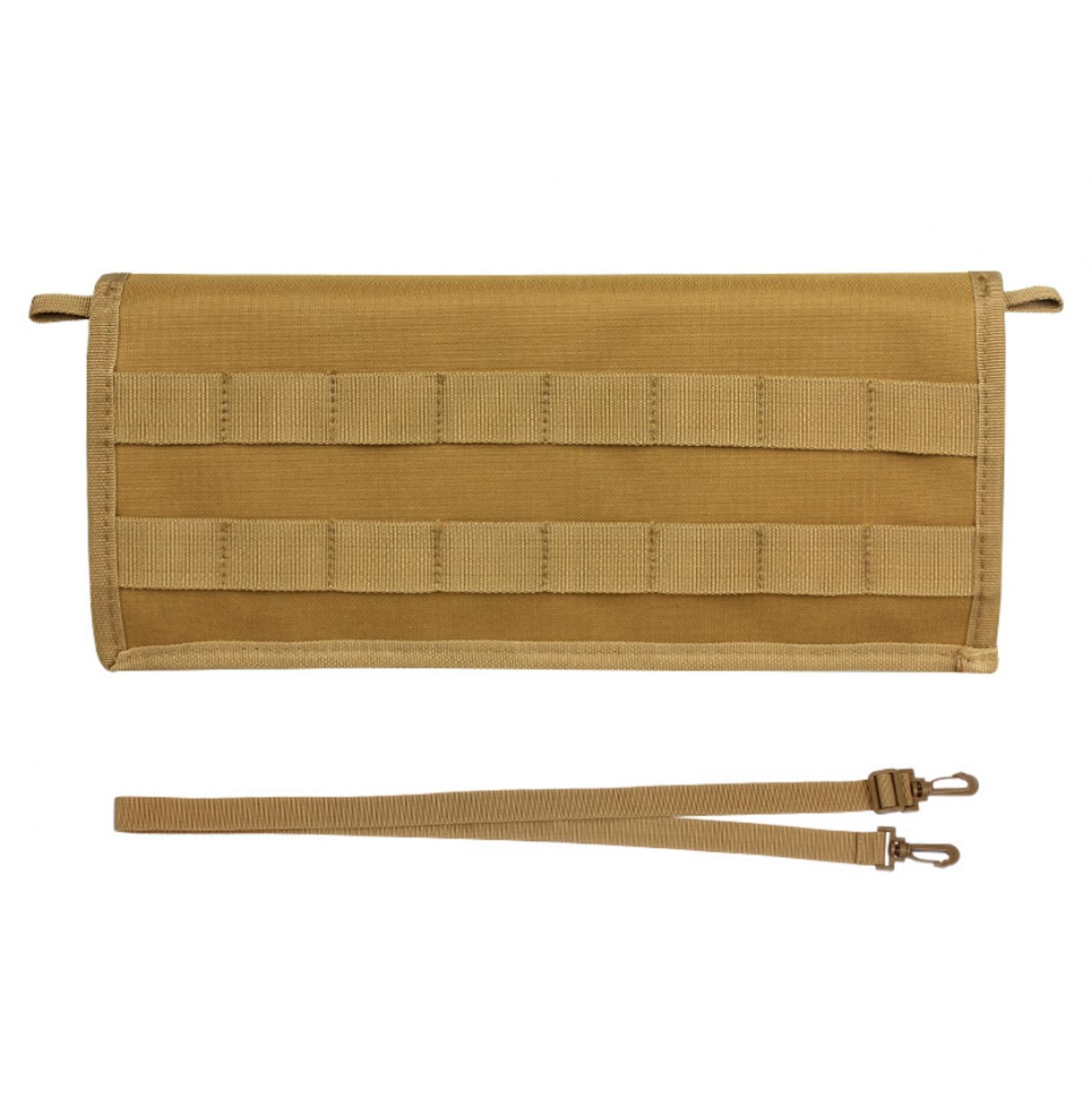 Большой подсумок с плечевым ремнем под магазины для пистолета (койот)