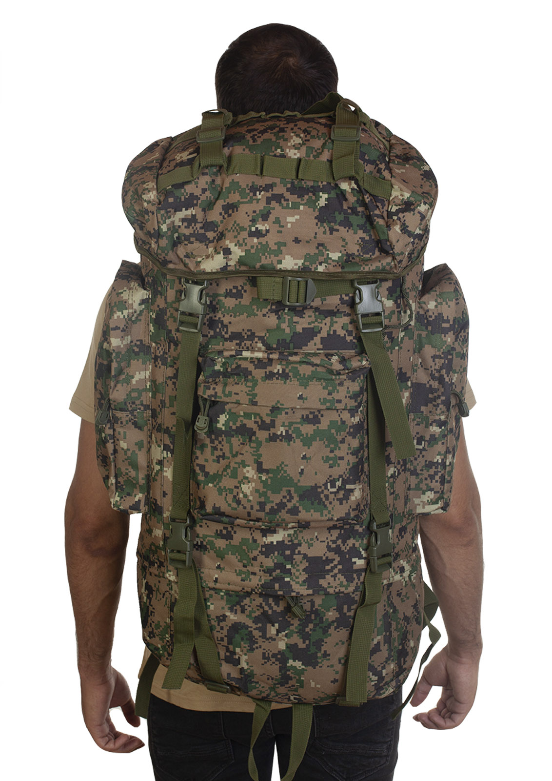 Большой рюкзак для мужчин камуфляжа Digital Woodland - оптом и в розницу