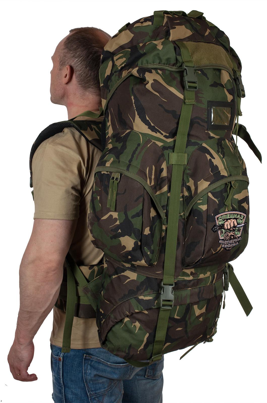 Заказать большой тактический рюкзак с нашивкой Охотничий спецназ